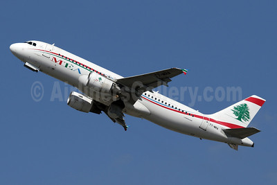 MEA-Middle East Airlines Airbus A320-214 T7-MRA (msn 5162) LHR (SPA). Image: 941760.
