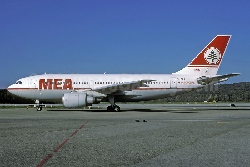 MEA (Middle East Airlines) (KLM Royal Dutch Airline) Airbus A310-203 PH-AGC (man 248) ZRH (Rolf Wallner). Image: 922138.