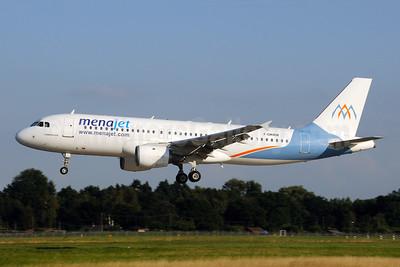 Menajet (menajet.com) Airbus A320-211 F-OKRM (msn 615) (Almasria Universal Airlines colors) HAM (Gerd Beilfuss). Image: 945428.