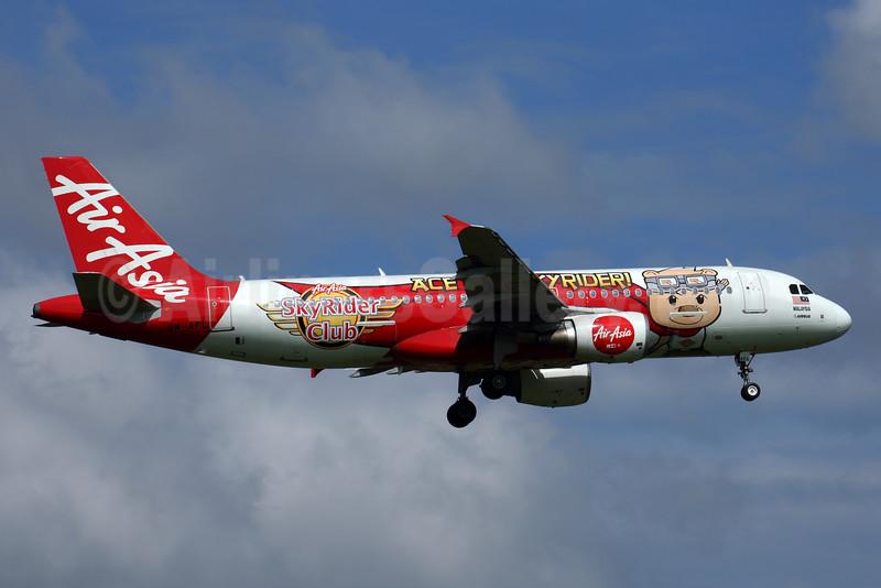 "AirAsia's 2014 ""Ace the Skyrider!"" logo jet"
