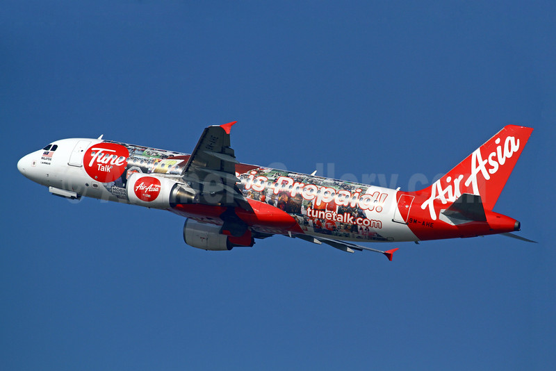 AirAsia (Malaysia) Airbus A320-216 9M-AHE (msn 3327) (Tune Talk - This is Prepaid!) TPE (Manuel Negrerie). Image: 926067.