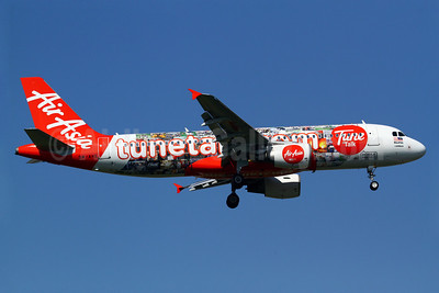 "AirAsia's special ""Tune Talk - This is Prepaid!"" logo jet"