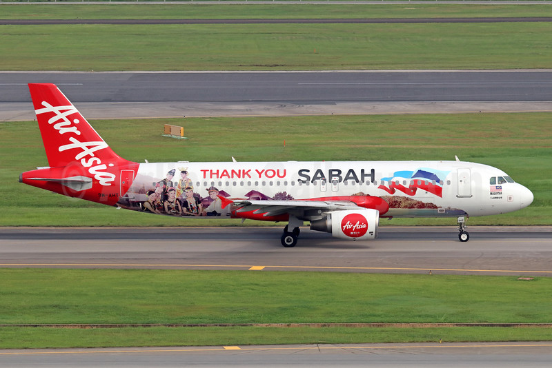 """AirAsia's 2014 """"Thank you Sabah"""" special livery"""