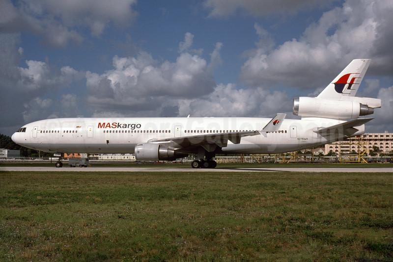 MASkargo (Malaysia Airlines) (World Airways) McDonnell Douglas MD-11 (F) N275WA (msn 48631) MIA (Bruce Drum). Image: 104260.
