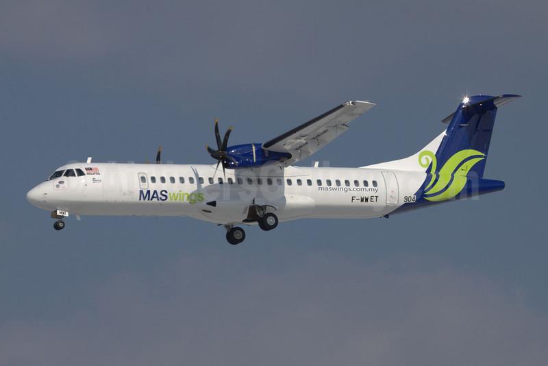 MASwings ATR 72-212A (ATR 72-500) F-WWET (9M-MWI) (msn 904) TLS (Clement Alloing). Image: 907677.