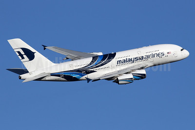 Malaysia Airlines Airbus A380-841 9M-MNB (msn 081) LHR (SPA). Image: 935726.
