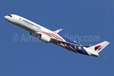 Malaysia Airlines Airbus A350-941 9M-MAF (msn 203) (Negaraku) LHR (SPA). Image: 943692.
