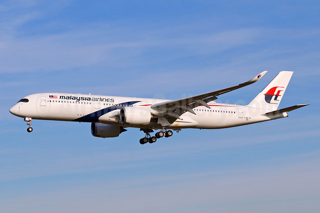 Malaysia Airlines Airbus A350-941 F-WZFG (9M-MAB) (msn 159) TLS (Eurospot). Image: 939652.