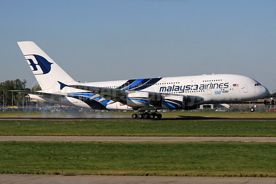 Malaysia Airlines Airbus A380-841 9M-MNF (msn 114) (100th A380) LHR (SPA). Image: 933754.