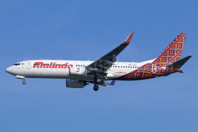 Malindo Air Boeing 737-8GP WL 9M-LNC (msn 38314) (Batik Air colors) CGK (Michael B. Ing). Image: 938425.