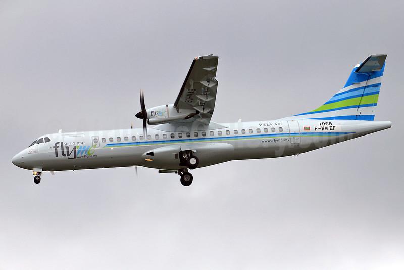 FlyMe (Maldives)-Villa Air ATR 72-600 F-WWEF (8Q-VAS) (msn 1069) TLS (Eurospot). Image: 910877.