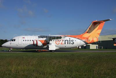 Eznis Airways BAe (Avro) RJ85 (146-RJ85) JU-9909 (msn E2257) KEM (Antony J. Best). Image: 906693.
