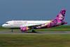 """Hunnu Air-Wings of Mongolia Airbus A319-112 JU-8888 (msn 1706) """"Great Mongol"""" FSZ (Akira Uekawa). Image:  913381."""