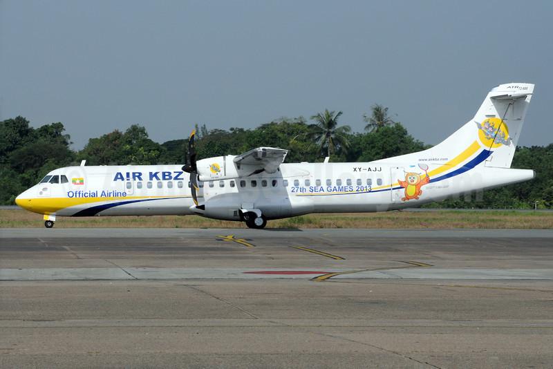 Air KBZ ATR 72-212A (ATR 72-600) XY-AJJ (msn 1085) (27th Sea Games 2013) RGN (Richard Vandervord). Image: 922971.