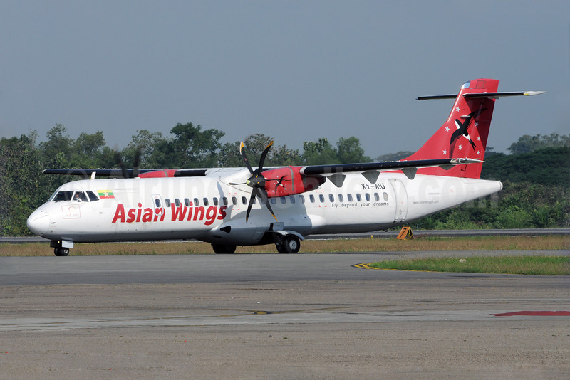 Asian Wings ATR 72-212A (ATR 72-500) XY-AIU (msn 557) RGN (Richard Vandervord). Image: 923119.