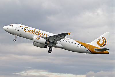 Golden Myanmar Airlines Airbus A320-232 XY-AGT (2128) SEN (Keith Burton). Image: 913835.