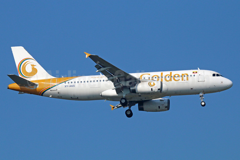 Golden Myanmar Airlines Airbus A320-232 XY-AGS (msn 1407) BKK (Michael B. Ing). Image: 921769.