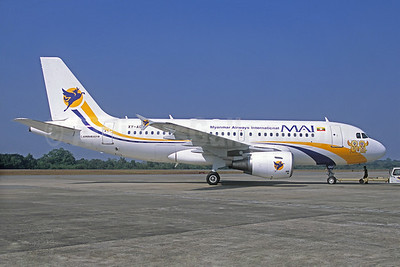 MAI-Myanmar Airways International Airbus A319-111 XY-AGU (msn 1180) (Christian Volpati Collection). Image: 930784.
