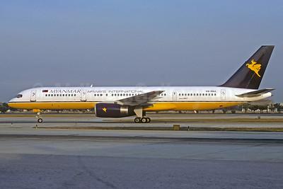 Myanmar Airways International (Royal Brunei Airlines) Boeing 757-2M6 V8-RBA (msn 23452) (Royal Brunei underside) BKK (Jacques Guillem Collection). Image: 930786.