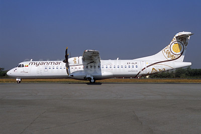 Myanmar National Airlines ATR 72-212A (ATR 72-600) XY-AJY (msn 1267) RGN (Jacques Guillem Collection). Image: 946120.