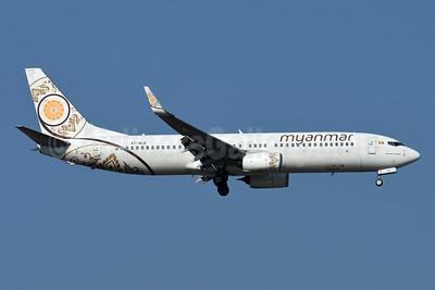 Myanmar National Airlines Boeing 737-86N WL XY-ALB (msn 43405) BKK (Karl Cornil). Image: 952689.