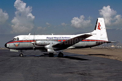 Royal Nepal Airlines Hawker Siddeley HS.748-253 Series 2A 9N-AAU (msn 1671) KTM (Christian Volpati Collection). Image: 954296.