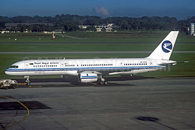 Royal Nepal Airlines Boeing 757-22K EZ-A012 (msn 28337) (Turkmenistan Airlines colors) SIN (Jacques Guillem Collection). Image: 933739.