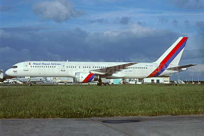 Royal Nepal Airlines Boeing 757-2F8 9N-ACA (msn 23850) ORY (Jacques Guillem). Image: 933740.