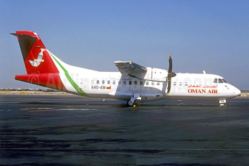 Oman Air ATR 42-500 A40-AM (msn 501) DXB (Christian Volpati Collection). Image: 940784.