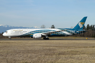 Oman Air's first Boeing 787-9 Dreamliner