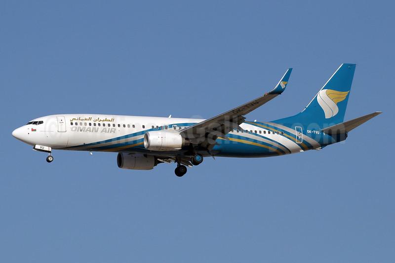 Oman Air (Travel Service Airlines) Boeing 737-86N WL OK-TVU (msn 38025) DXB (Paul Denton). Image: 910926.
