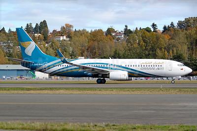 Oman Air Boeing 737-81M WL A40-BAC (msn 60393) BFI (Joe G. Walker). Image: 935440.