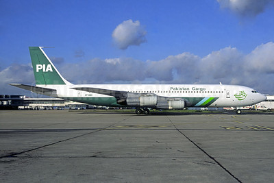 PIA-Pakistan International Airlines Cargo Boeing 707-373C AP-AWU (msn 18991) ORY (Jacques Guillem). Image: 937319.