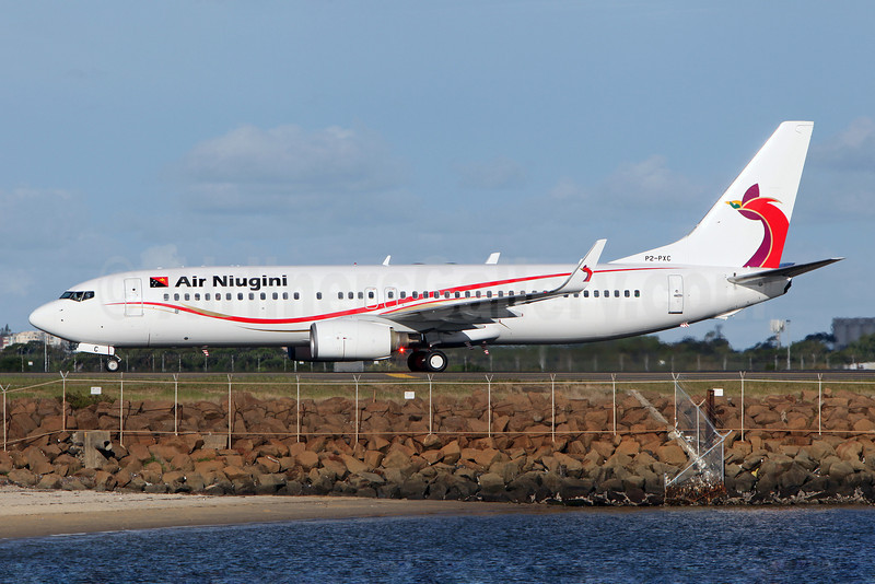 Air Niugini Boeing 737-86Q WL P2-PXC (msn 30290) SYD (John Adlard). Image: 911433.