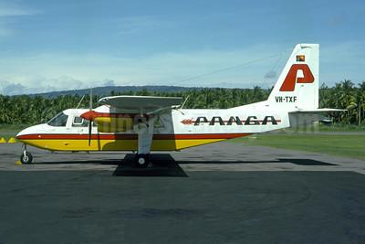 Panga Airways Britten-Norman BN-2A Islander VH-TXF (P2-PAD) (msn 763) (Pierre-Alain Petit - Bruce Drum Collection). Image: 952589.