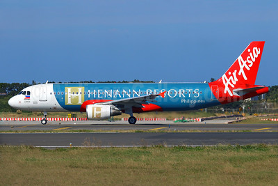"AirAsia's 2015 ""Henann Resorts Philippines"" logo jet"