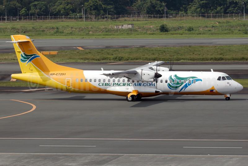 Cebu Pacific Air (Cebu Pacific Air.com) ATR 72-212A (ATR 72-500) RP-C7251 (msn 784) MNL (Bailey). Image: 931598.