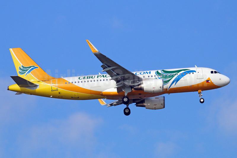 Cebu Pacific Air (Cebu Pacific Air.com) Airbus A320-214 WL RP-C3273 (msn 5498) BKK (Michael B. Ing). Image: 921905.