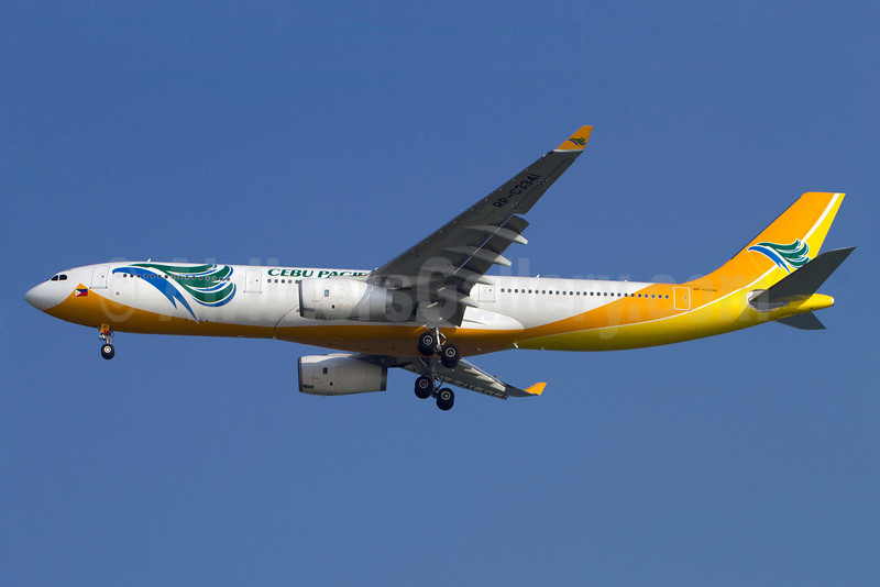 Cebu Pacific Air (Cebu Pacific Air.com) Airbus A330-343 RP-C3341 (msn 1420) SIN (Kok Chwee K. C. Sim). Image: 913138.