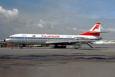 Filipinas Orient Airways Sud Aviation SE.210 Caravelle 6R PI-C969 (msn 103) (partial United-Sterling colors) MNL (Christian Volpati). Image: 900960.