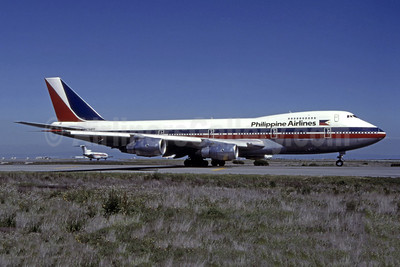 Philippine Airlines Boeing 747-2F6B N744PR (msn 22382) SFO (Thomas Livesey). Image: 944366.