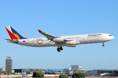 Philippines (Philippine Airlines) Airbus A340-313 RP-C3439 (msn 459) (75 Years) LAX (Michael B. Ing). Image: 938693.