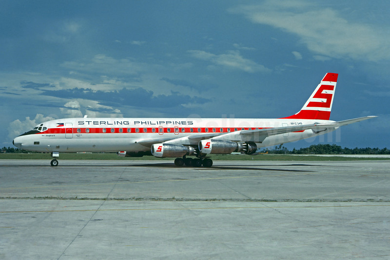 Sterling Philippines Airways Douglas DC-8-43 RP-C349 (msn 45660) MNL (Jacques Guillem Collection). Image: 925559.