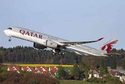 Qatar Airways Airbus A350-941 A7-ALN (msn 047) ZRH (Andi Hiltl). Image: 937588.