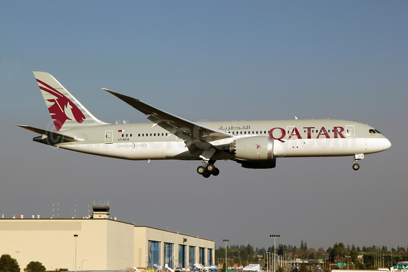Qatar Airways Boeing 787-8 Dreamliner A7-BCB (msn 38320) PAE (Nick Dean). Image: 909454.