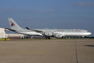 Qatar Airways Airbus A340-541 A7-HHH (msn 495) (Amiri Flight) LHR (SPA). Image: 903097.