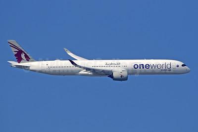 Qatar Airways Airbus A350-1041 A7-ANE (msn 141) (Oneworld) LHR (SPA). Image: 946276.