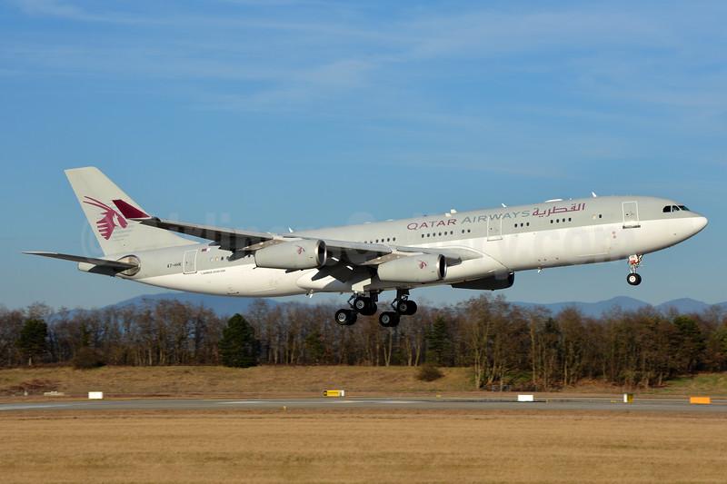 Qatar Airways (Amiri Flight) Airbus A340-211 A7-HHK (msn 026) BSL (Paul Bannwarth). Image: 937193.