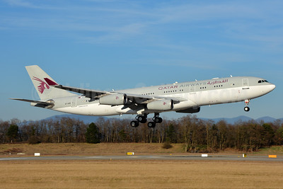 Qatar Airways (Amiri Flight) Airbus A340-211 A7-HHK (msn 026) BSL (Paul Bannwarth). Image: 937193.