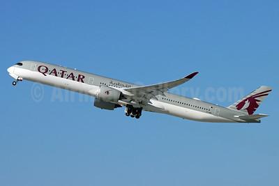 Qatar Airways Airbus A350-1041 A7-ANS (msn 420) LAX (Michael B. Ing). Image: 953354.